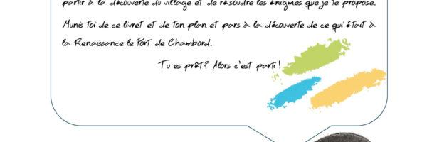 Jeu de piste à Saint Dyé sur Loire, port de Chambord