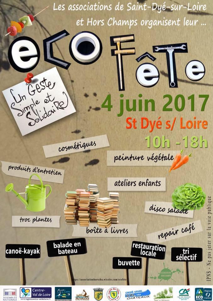 Dimanche 4 Juin : Eco Fête à St Dyé