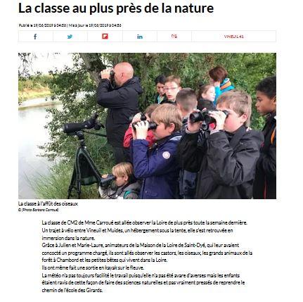 La classe au plus près de la nature