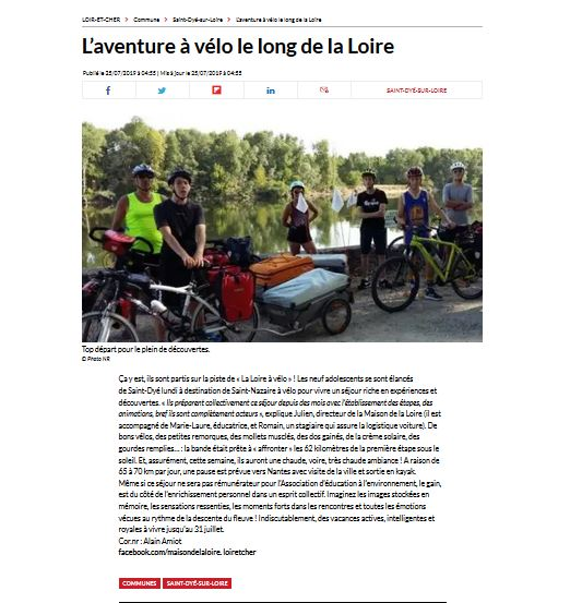 L'aventure à vélo le long de la Loire